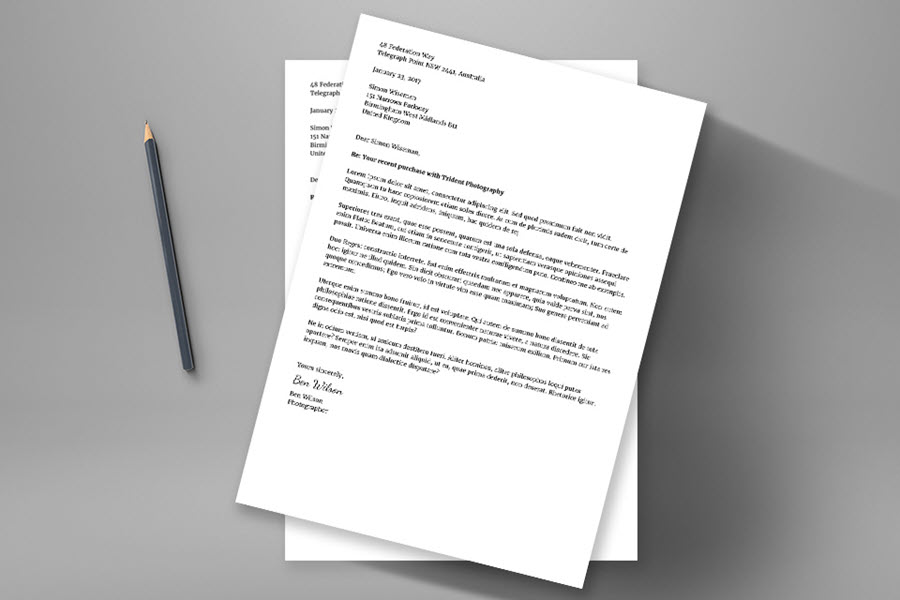 how to write a formal letter of complaint